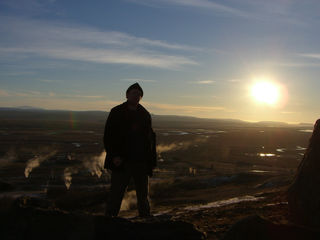 Sun and Ice - Me in Iceland